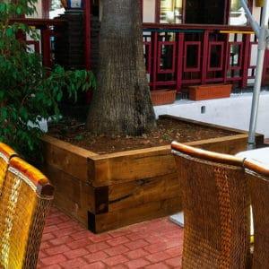 Alcorque de madera triple