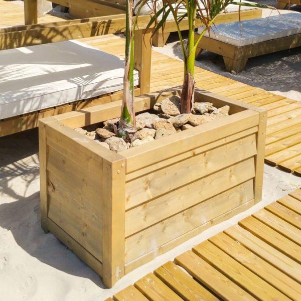 Jardinera de madera Modelo Lux doble