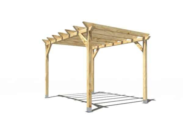 Pergola de madera modelo Garden 4x3m