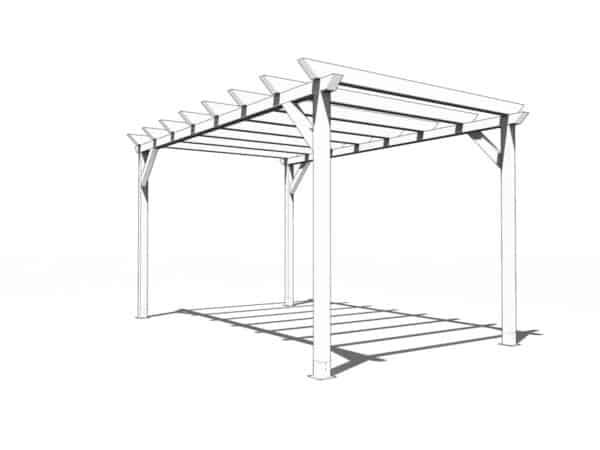 Pergola de madera modelo Garden 5x3m