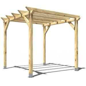 Pergola de madera Modelo Garden 3x3m