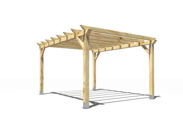 Pergola de madera modelo Garden 5x4m
