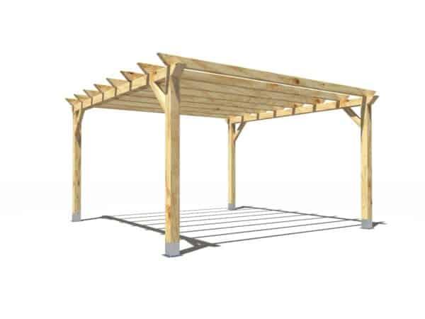 Pergola de madera modelo Garden 5x5m