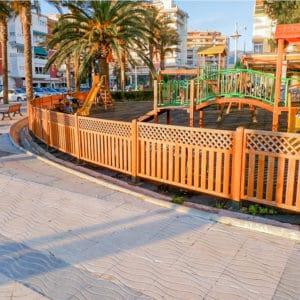 vallas de madera para parque