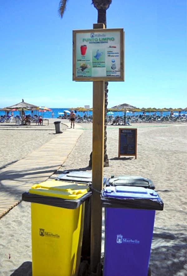cubrecontenedor de madera modelo open playa