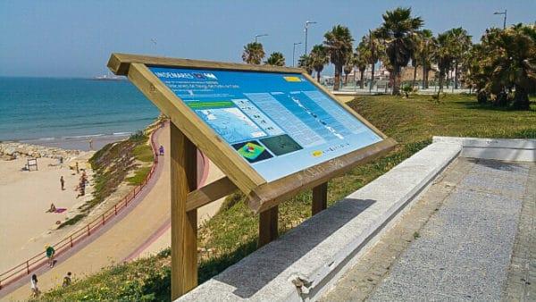 cartel de madera informacion
