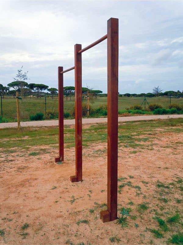 Pulso en madera para circuito deportivo