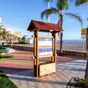 Cartel de madera para paseo marítimo modelo walk